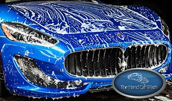Blue Car with Suds